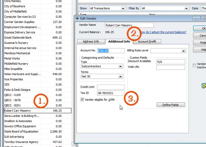 Downtown Bookkeeping How To Prepare 1099s In Quickbooks
